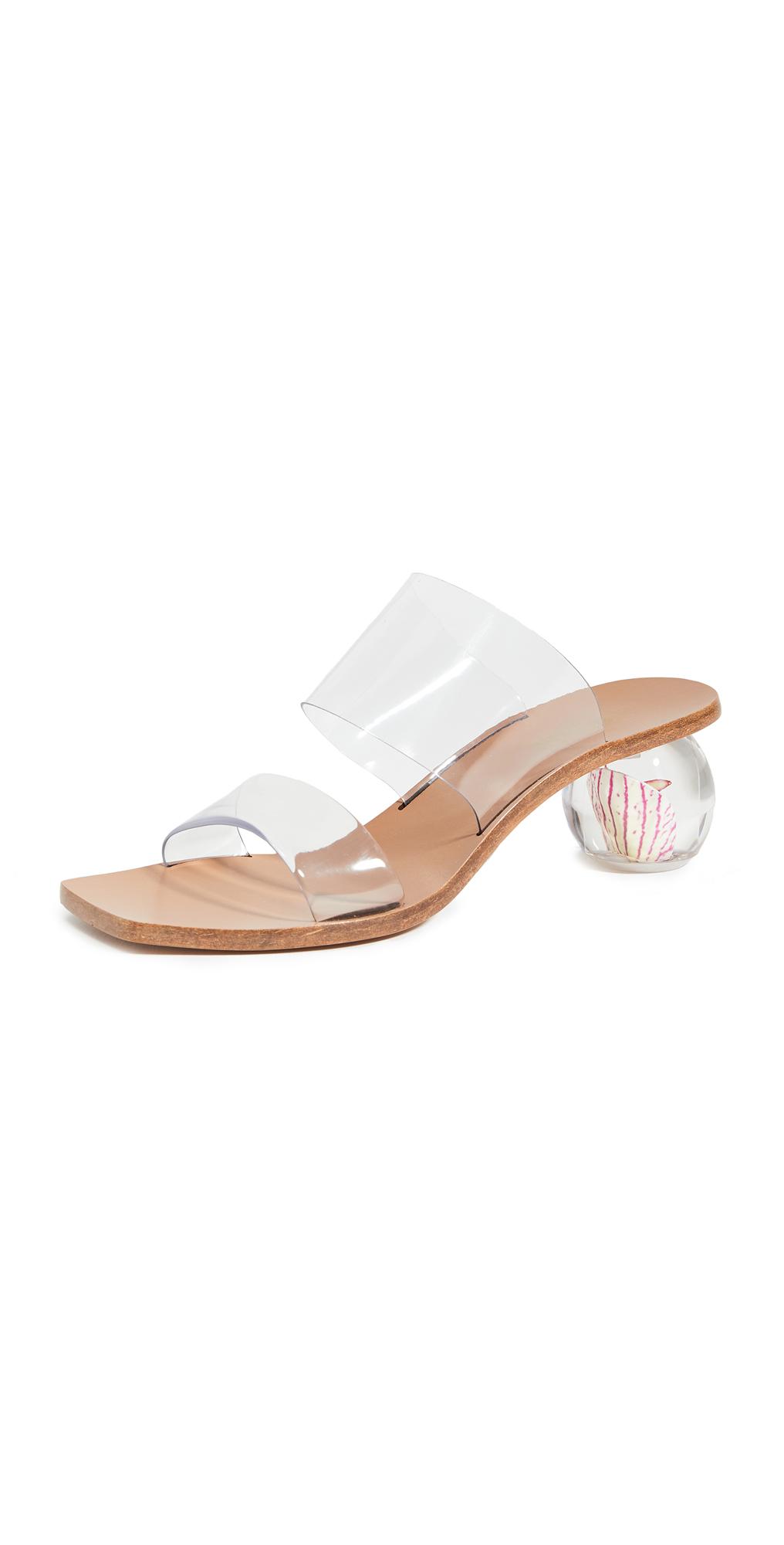 Cult Gaia Jila Flower Heel Sandals