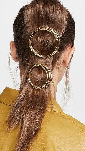 Cult Gaia Набор витых заколок для волос Ines