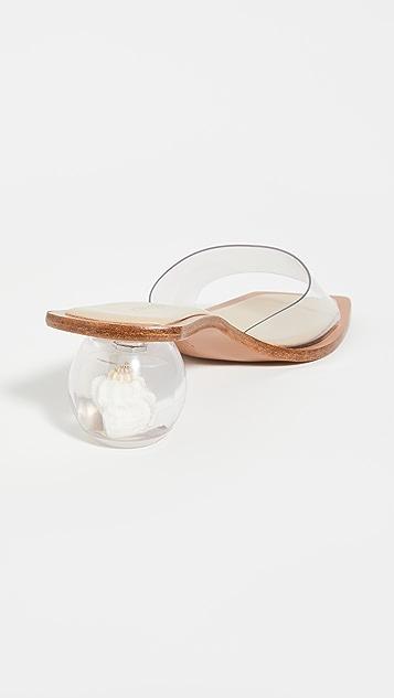 Cult Gaia Tao Shell Sandals