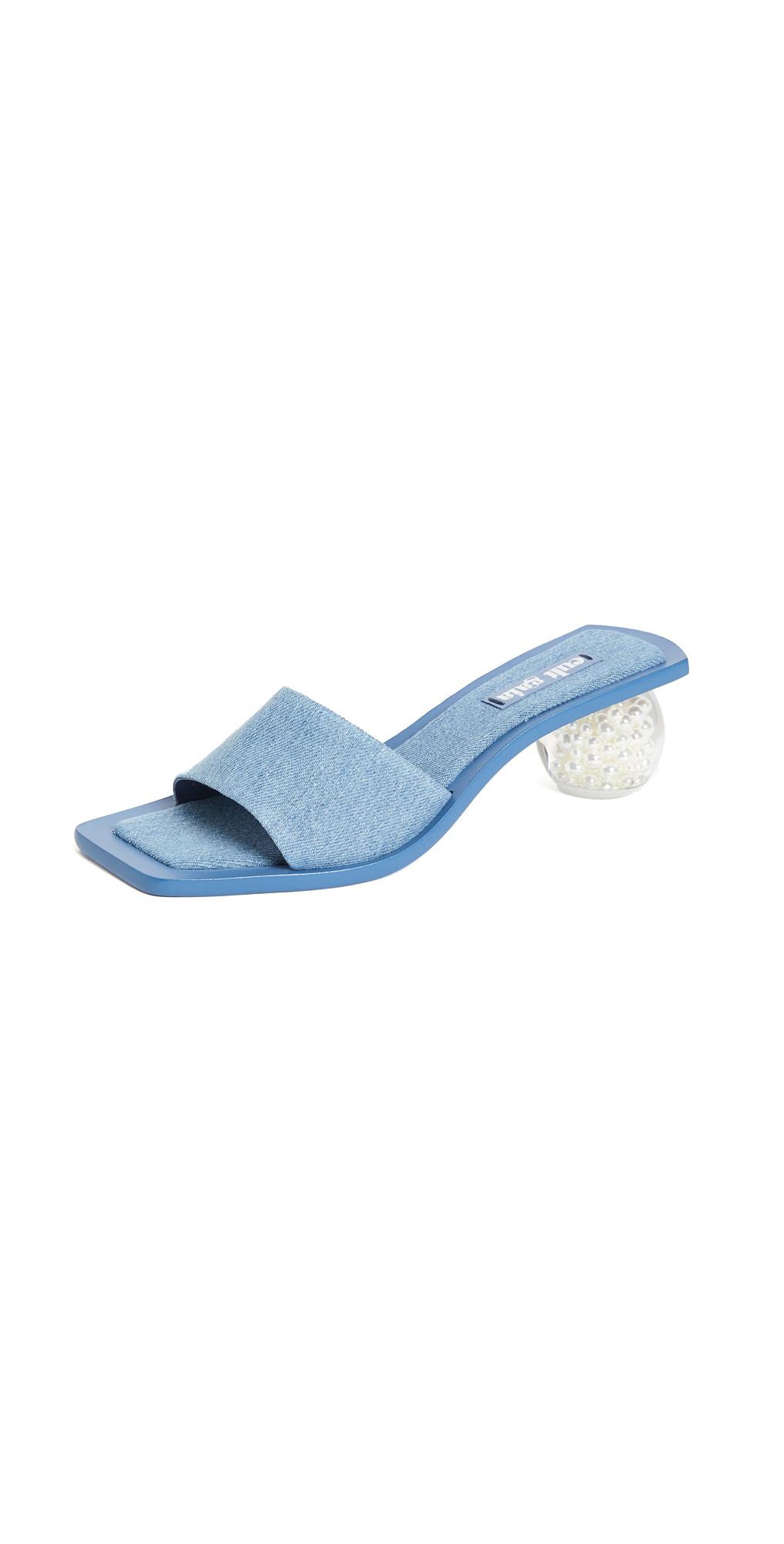 Cult Gaia Tao Denim Sandals