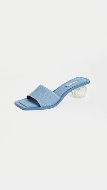Cult Gaia Tao Denim Sandals