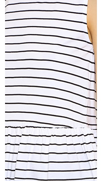 cupcakes and cashmere Horizon Stripe Top with Ruffle