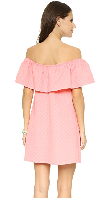 cupcakes and cashmere Lulu Off Shoulder Ruffle Dress