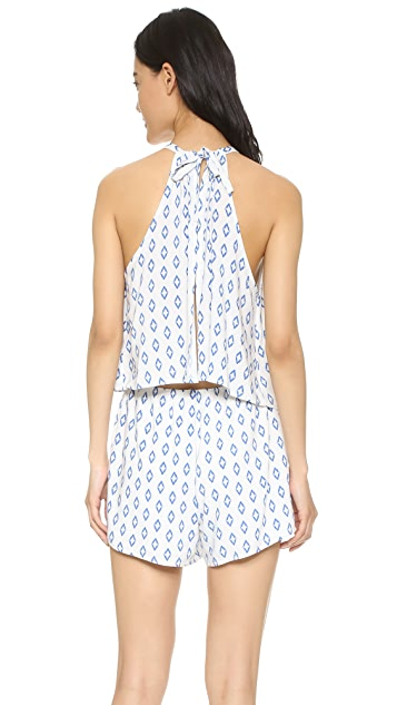 cupcakes and cashmere Davidson Printed Romper