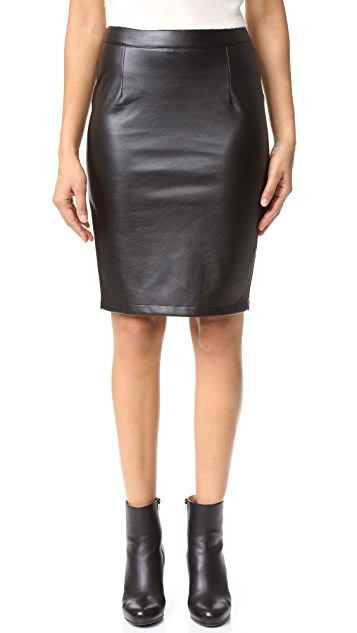 cupcakes and cashmere Jasper Vegan Leather Pencil Skirt