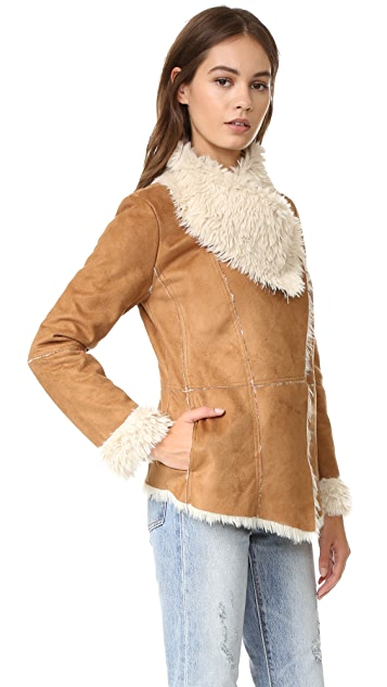 cupcakes and cashmere Lesya Faux Suede Jacket