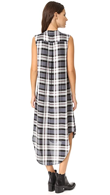 cupcakes and cashmere Ginny Plaid Tank Dress