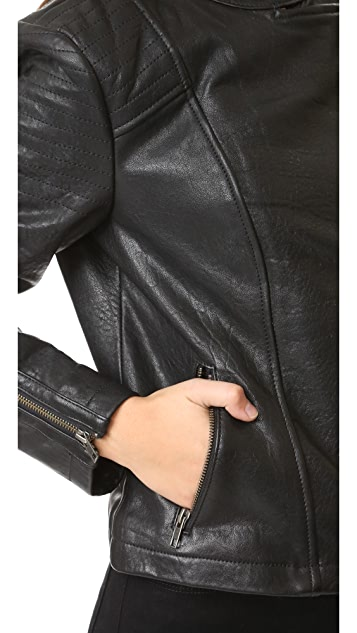 cupcakes and cashmere Shirley Moto Leather Jacket