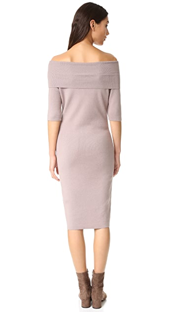 cupcakes and cashmere Jason Off Shoulder Sweater Dress