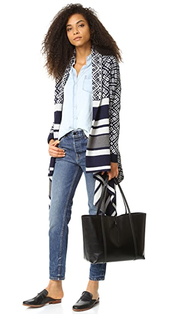 cupcakes and cashmere Gillian Jacquard Poncho