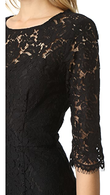cupcakes and cashmere Joby Fitted Lace Dress