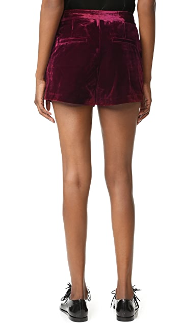 cupcakes and cashmere Flores Ultra Soft Velveteen Shorts