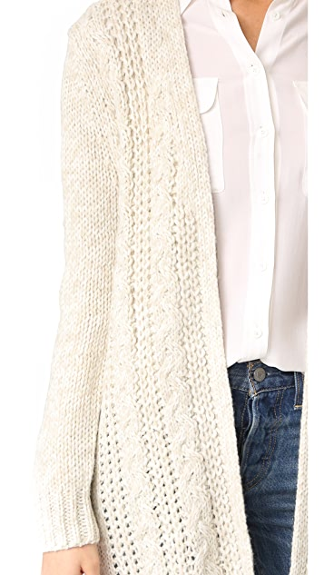 cupcakes and cashmere Neil Cable Knit Cardigan