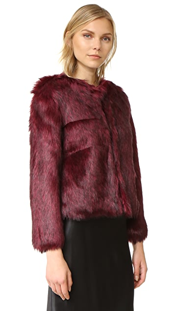 cupcakes and cashmere Snyder Luxe Faux Fur Jacket