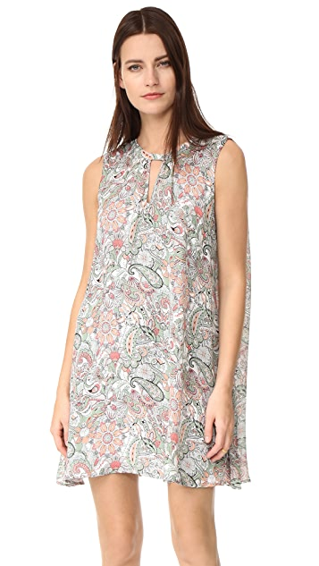 cupcakes and cashmere Ruxton Paisley Floral Printed Dress