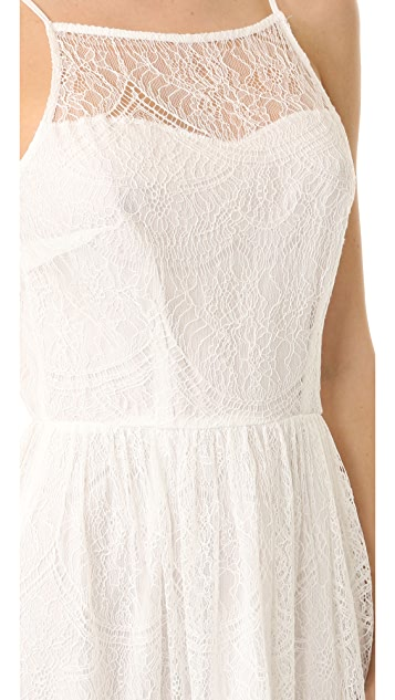 cupcakes and cashmere Strady Lace Midi Dress
