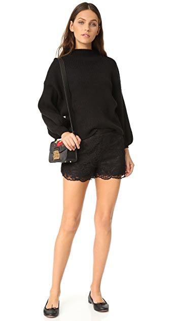 cupcakes and cashmere Estelle Scalloped Edge Lace Shorts