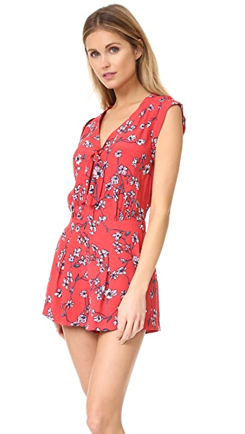 cupcakes and cashmere Fitz Cherry Blossoms Romper