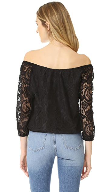 cupcakes and cashmere Karla Lace Blouse
