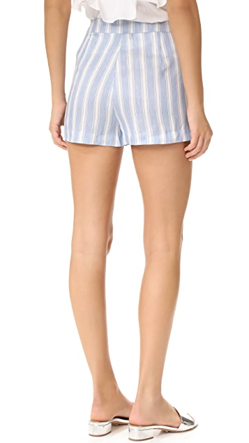 cupcakes and cashmere Brinley Stripe Linen Shorts