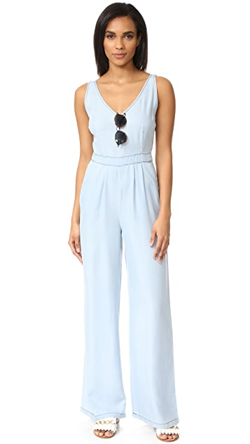 cupcakes and cashmere Deven Washed Chambray Jumpsuit