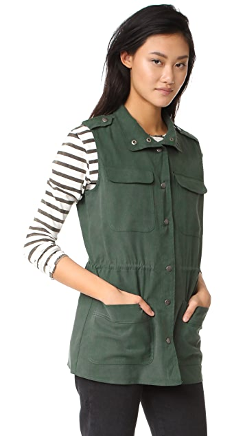 cupcakes and cashmere Alvy Military Vest