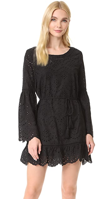 cupcakes and cashmere Ruben Eyelet Bell Sleeve Dress