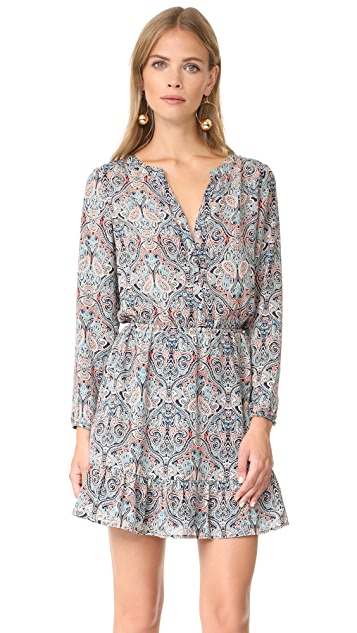 cupcakes and cashmere Selma Haight Paisley Printed Dress