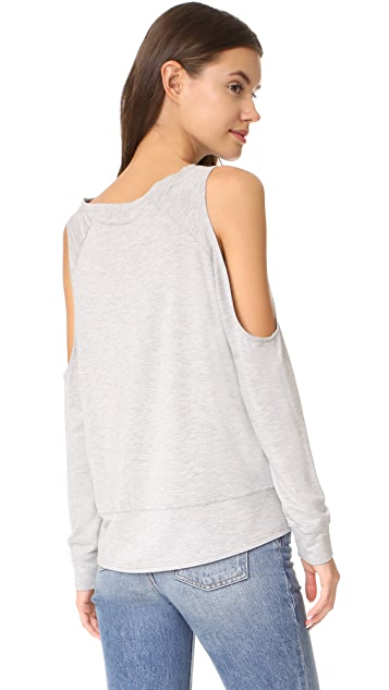 cupcakes and cashmere Mariam Cold Shoulder Sweatshirt