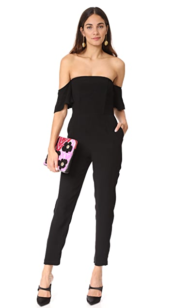 cupcakes and cashmere Havanna Off Shoulder Jumpsuit