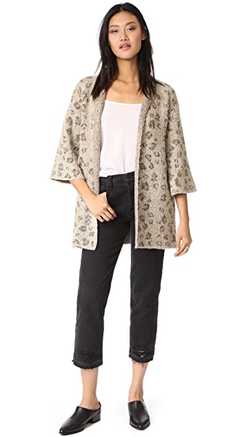 cupcakes and cashmere Noley Leopard Cardigan