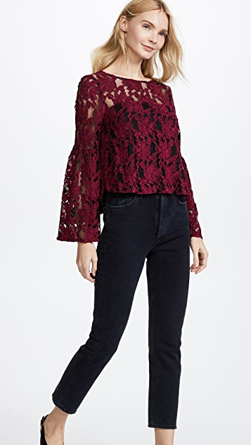 cupcakes and cashmere Florent Lace Blouse