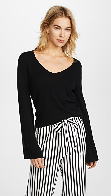 cupcakes and cashmere Marylee Cashmere Sweater - Black