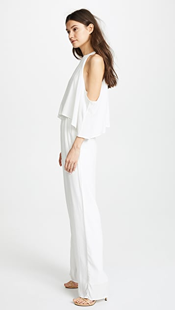 cupcakes and cashmere Malu Cold Shoulder Jumpsuit