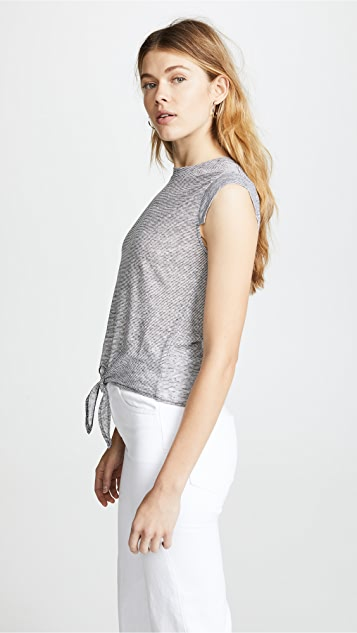 cupcakes and cashmere Batista Tie Front T-Shirt