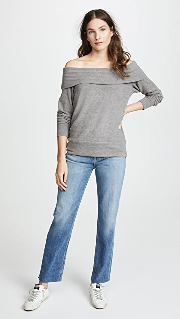 cupcakes and cashmere Brooklyn Off Shoulder Top