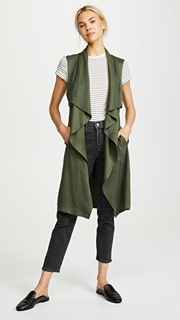 cupcakes and cashmere Filmore Drape Front Military Vest