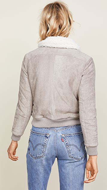 cupcakes and cashmere Ira Reversible Bomber Jacket