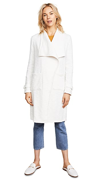 cupcakes and cashmere Harlem Drape Front Coat