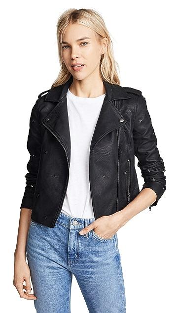 cupcakes and cashmere Haze Vegan Leather Moto Jacket