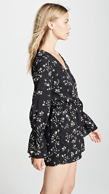 cupcakes and cashmere Infinity Speckle Blooms Romper