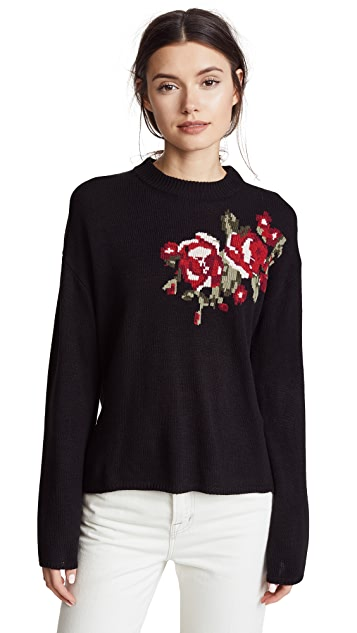 cupcakes and cashmere Pullover with Rose Design