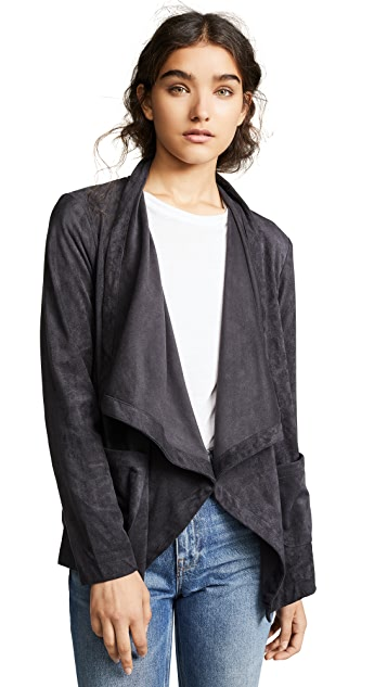 cupcakes and cashmere Buckingham Faux Suede Wrap Jacket