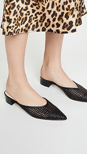 cupcakes and cashmere Leviana Woven Mules