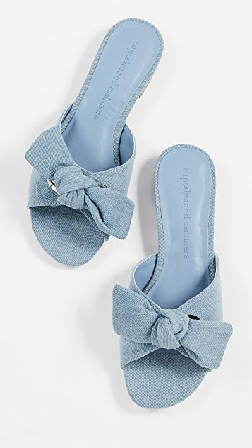 cupcakes and cashmere Yazia Bow Slides