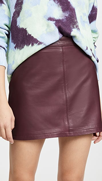 cupcakes and cashmere Marrie Leather Skirt