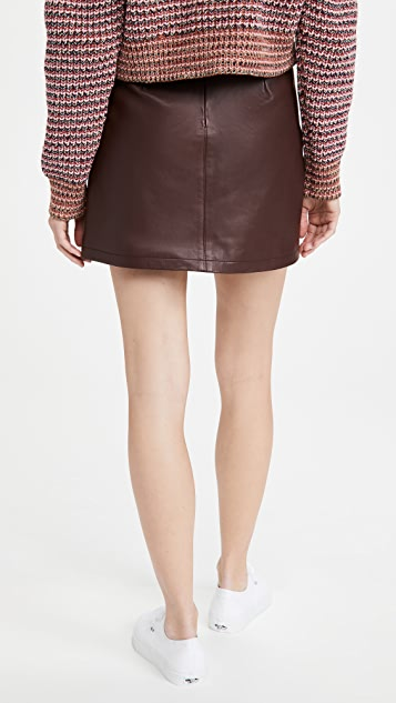 cupcakes and cashmere Marie Leather Skirt