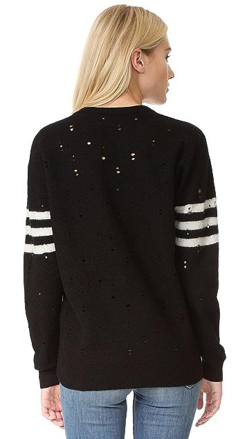 Current/Elliott The Crew Neck Destroy Sweater