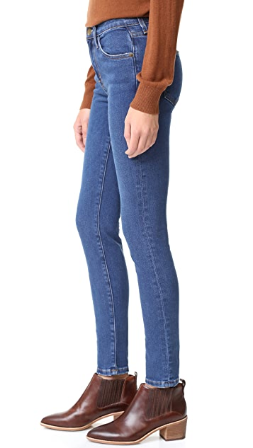 Current/Elliott High Waist Ankle Skinny Jeans
