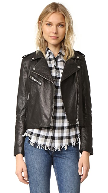 Current/Elliott The Roadside Leather Jacket